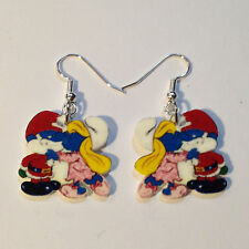Smurfette Earrings Papa Smurf Christmas Charm