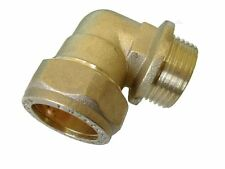 """New Compression male elbow BSP, 15mm x 1/4"""", BRASS, plumbing, DIY, water"""