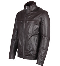 "BNWT Genuine Mens Hugo Boss Leather Jacket L 40"" RRP £460 (Almeo)"