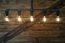 - Edison Age 5-Light Pendant Light, Vintage Steampunk Pipe Light, chandelier