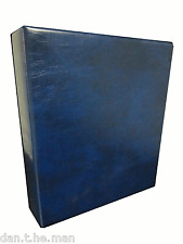 BLUE BRITANNIA STAMP ALBUM/ BINDER - 4 'D' RING - SPINE POCKET - STANLEY GIBBONS