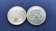 50 Pfennig Weimarer Republik - Sich regen bringt Segen 1919 A / 1920 D / 1921 D