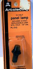 """Arcolectric PL-31G 12V  PANEL LAMP; MOUNTING  HOLE 1/2"""" DIAMETER"""