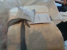 West Elm Luster Velvet duvet King stone + 2 King shams  New  wo tag
