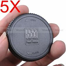 5x Rear Cap Cover for Olympus Panasonic Lumix M4/3 Micro 4/3 Four Thirds Lens