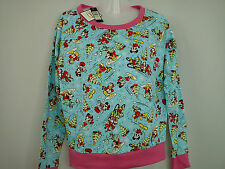 New RIVER ISLAND Mickey Ladies womens jumper SWEATSHIRT size S SIZE 8 OR 6