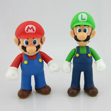 "Lot 2 Nintendo New Super Mario Bros Brothers Luigi Toy PVC Action Figure 5"" 12cm"