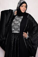 2016Abaya dubai kaftan gulfs stylish design maxi muslim dress Galabia with scarf