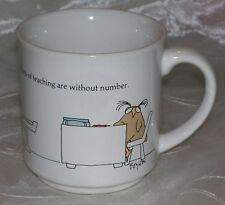 Sandra Boynton THE LITTLE JOYS OF TEACHING ARE WITHOUT NUMBER Mug Cup -  VGUC