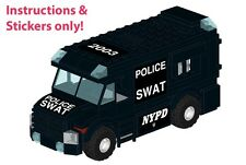 LEGO NYPD LAPD SWAT Armored Car instructions stickers 60043 Prisoner Transport