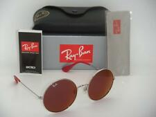 New Authentic Ray-Ban Round RB 3592 003/D0 55mm Silver Frame Purple Lenses