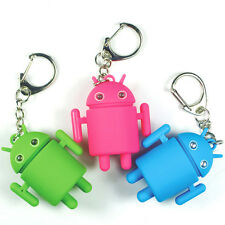 Cartoon Andrews robot light Up LED Torch With sound Keyring KeyChain TOYS UYS163