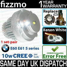 FIZZMO BMW 10w CREE LED ANGEL EYE HALO RING LIGHT BULB XENON WHITE LCI FACELIFT