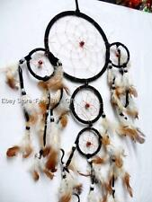 Big Handmade Hanging Natural Feather Dream Catcher Decor Traditional Ornament #A