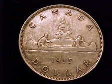 1935 Canada Silver Dollar, a coin in Extra Fine condition