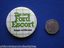 The new Ford Escort pin badge    1980s