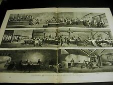 Cincinnati Hog Pig Slaughtering PORK DRYING BACON SAUSAGE FOOD 1873 Large Print