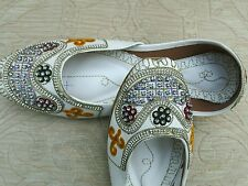 WHITE LADIES INDIAN LEATHER WEDDING   PARTY SHOES   SIZE 6
