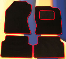 FORD FIESTA MK7 & ST 2011 ON BLACK CARPET WITH RED EDGE CAR FLOOR MATS + CLIPS