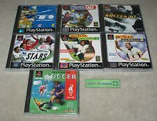 7 PS1 Football Sports games Bundle - Playstation One - Olympic Soccer Actua 2 3