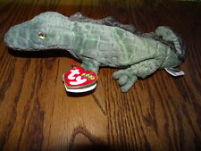 Ty SWAMPY The Alligator Beanie Baby MINT WITH MINT TAGS + tag protector