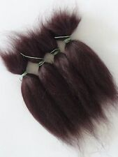 Long MOHAIR for rooting- REBORN Doll making supplies 30g (+ 1ounce)- DARK BROWN
