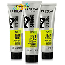3x Loreal Studio Line Invisi Groom Taming Balm Natural Look Hair Gel 150ml