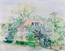 vermutl. Elek VAJDA (1904-1980) - kl. Aquarell: HERRSCHAFTLICHE VILLA IN GRAZ