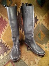 $$$ KICKERS 70 MIDUM GRAY GENUINE THICK LEATHER BOOTS SIZE 7 MADE IN PORTUGAL