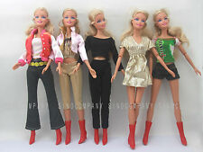 Girls Gift 5pcs Barbie Dresses Trousers Clothes Casual Jacket Coat For Doll Toy