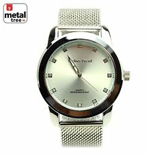 Men's Hip Hop Luxury Fashion Analog Stainless Steel Metal Band Watch/1254 SL
