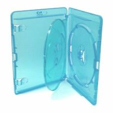 200 Blu ray 3 Way Cases 14mm Spine Holding 3 Disks New Replacement Amaray Cover