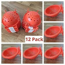 12 x PLASTIC CANARY NEST PAN FOR NESTING CANARIES, FINCHES BUDGIES & BIRDS etc