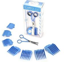 SCAREDY CUT Silent Pet Grooming Kit + Tiny Trim for all Pets, BLUE