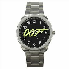 NEW* HOT JAMES BOND 007 Quality Sport Metal Wrist Watch Gift