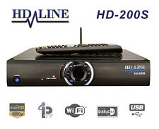 HD-LINE HD-200S Démodulateur satellite et IP TV WiFi Ethernet 1080P Arabic Pack