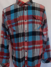 O'Neill men's Button Front Plaid Flannel Shirt Jordy Smith Collection Size XL