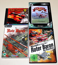 4 PC SPIELE SAMMLUNG - DER ROTE BARON - RED BARON 3D II ROTER BARON SIMULATION