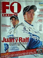 F1 racing magazine sep 2001  features lots to read about etc free p&p to uk