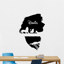 Personalized Name Lion King Wall Decal Vinyl Sticker Custom Disney Poster 211crt