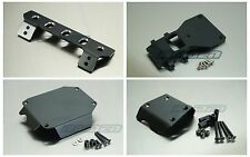 Aluminum Front Center Rear Skid Plate Lower Bumper for Tamiya CC01 PAJERO Black