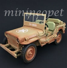 AMERICAN DIORAMA 77408 A US ARMY WWII JEEP VEHICLE 1/18 DESERT WEATHERED VERSION
