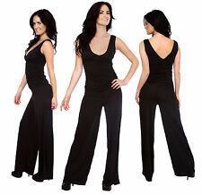 NEW Womens Ladies V Neck Sleeveless Bodycon Jumpsuit&Romper Trousers Clubwear