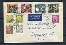 Luftpostbrief BRD Mi.-Nr. 270-273 plus diverse Heuss Werte - b2965