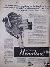 PUBLICITÉ 1958 CAMERA BEAULIEU R16 - ADVERTISING