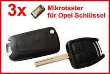 3x Chiave Dell'automobile Micro-tester per OPEL ASTRA MERIVA VECTRA OMEGA SIGNUM