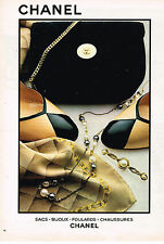 PUBLICITE ADVERTISING 0314   1980   CHANEL  boutique bijoux foulards sacs chauss