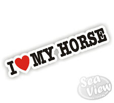 I Heart Love My Horse Pony Sticker Decal