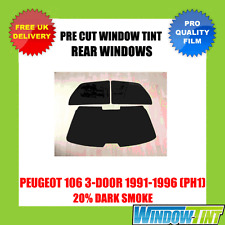 PEUGEOT 106 3-DOOR 1991-1996 (PH1) 20% DARK REAR PRE CUT WINDOW TINT