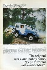 1965 Kaiser JEEP Universal 4-Wheel Drive backroads with Boat PRINT AD